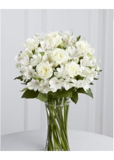 (mr234) Cam cazoda beyaz çiçekler